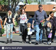 tori spelling dean mcdermott and their kids hattie and finn