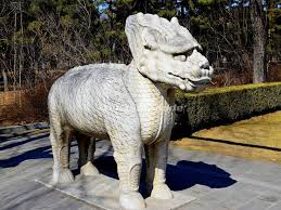 qilin statue qilin statue in beijing ming tombs sacred way sacred way of ming