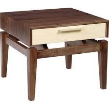 modern walnut nightstands allmodern