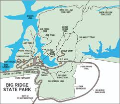 Eastern Tennessee Map by Big Ridge State Park U2014 Tennessee State Parks