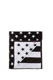 Black And White Us Flag Stampd American Flag Towel In Black U0026 White Fwrd