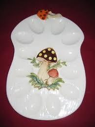 vintage deviled egg platter 360 best egg plates egg cups images on egg cups