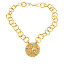 gold blue stone necklace images Asa jewelry blue stone goldtone 18 quot lion drop necklace 8471196 hsn jpg