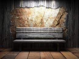 wooden wall wooden wall and bench stock photo colourbox
