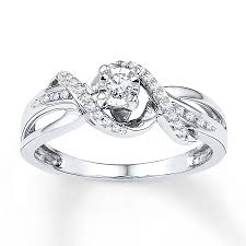 white gold promise rings promise ring 1 6 ct tw diamonds 10k white gold