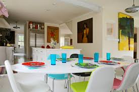 Colorful Kitchen Table Super Bright White Kitchen Table For Cleaner Interior Look Kitchen