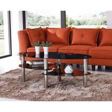 long black coffee table glass hodedah black coffee tables accent tables the home depot