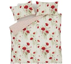 Poppy Bedding Buy Catherine Lansfield Wild Poppies Duvet Cover Set Double At