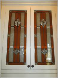 Leaded Glass Kitchen Cabinets Unfinished Oak Cabinet Doors With Glass Cabinet Home Yeo Lab
