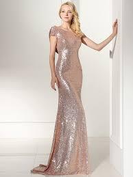 rose gold sequin open back maxi bridesmaid dress shein sheinside