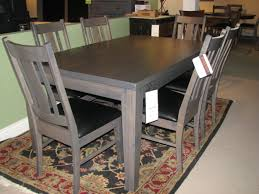 kalamazoo amish furniture battle creek amish dining bedroom barkman gray dining table and chairs with leather upholstered seats