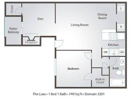 3 Bedroom Apartment Floor Plan 3 Bedroom Apartment Floor Plans U0026 Pricing U2013 Domain 3201 Tucson Az