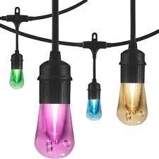 how to string cafe lights enbrighten 24 ft vintage seasons led color changing cafe string