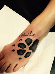 paw print tattoo by audrey mello my art pinterest paw print