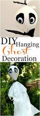 diy hanging ghost decoration crafts ghost decoration and halloween
