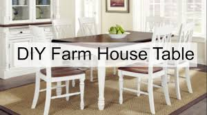 How To Make Your Own Dining Room Table by Diy Farmhouse Table Youtube