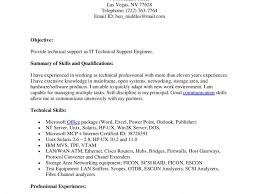 sample resume for technical writer technical support engineer