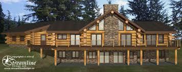 6 new log home and timber frame floor plans streamline design