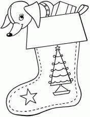 free christmas stocking coloring laptopezine coloring