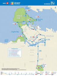Map Vancouver Canada by Bmo Vancouver Marathon Map U0026 Updates