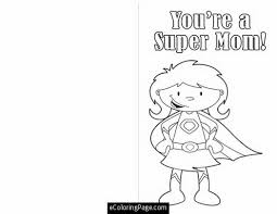 mothers day cut out card super mom coloring page printable for