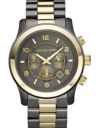 black bracelet mens watches images Michael kors men 39 s watch mk8160 with black dial and two tone bracelet jpg