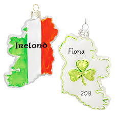 ireland glass flag ornament personalized ornaments for you