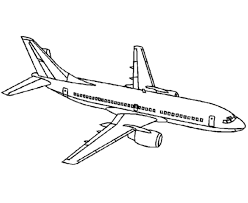 drawn airplane commercial airplane pencil color drawn