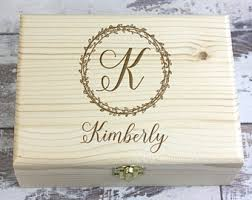 personalized wooden jewelry box engraved wood box etsy