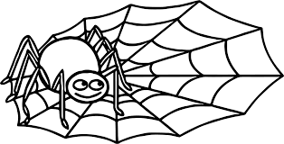cute spider web coloring pages