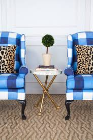 Gingham Armchair Chelsea Wing Chair Inslee
