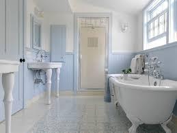 bathroom white tile black clawfoot tub vintage style tub filler