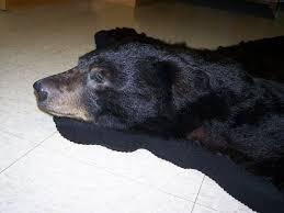 faux black bear skin rug with head bear rug with head black bear