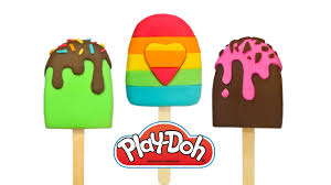 learn colors play doh ice cream popsicle toys creative crafts
