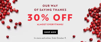 reitmans canada thanksgiving sale save 30 everything
