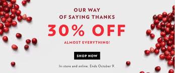 reitmans canada thanksgiving sale save 30 everything