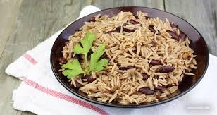 cuisine riz riz collé aux pois rouges riz national
