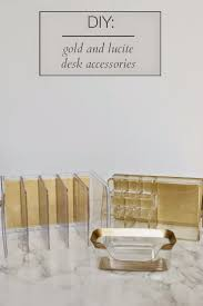 Diy Office Desk Accessories by Best 25 Gold Desk Accessories Ideas On Pinterest Gold Office