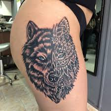 most beautiful wolf tattoos kickass things