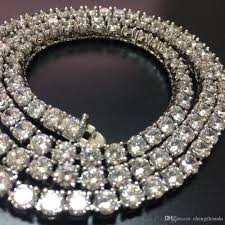 silver gold chain necklace images 2018 5mm cubic zircon tennis chain necklace 1 row silver gold jpg
