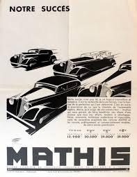 original vintage car advertising poster for mathis art deco