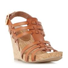 linea kestral woven cork wedge sandals tan bluewater 24 00