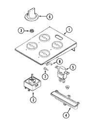 Parts For Jenn Air Cooktop Parts For Jenn Air Cve4180s Cooktop Appliancepartspros Com