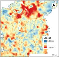 Heat Maps Cartography Key For A Heat Map Geographic Information Systems