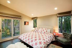 roman shades for patio doors bedroom contemporary with animal skin