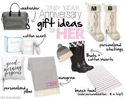 second year anniversary gift ideas 2nd wedding anniversary cotton gift ideas for him and