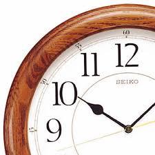 clockway 13in seiko mirage quartz wall clock quiet sweep gsk4224
