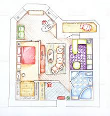 interior design apartments top view sketch handwork stock photo