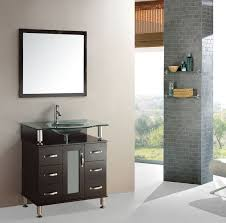 32 inch bathroom solid wood single vanities cabinets with tempered