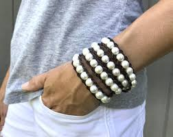 multi pearl bracelet images Pearl wrap bracelet etsy jpg